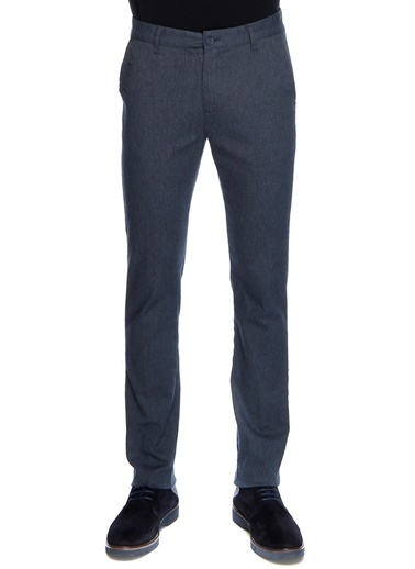 Slim Fit Kanvas Pantolon-North Of Navy